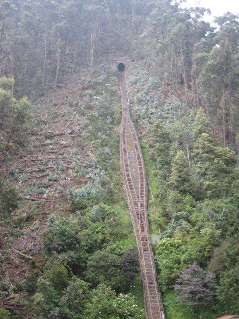 Vista de la entrada del funicular para ir a Monserrate.