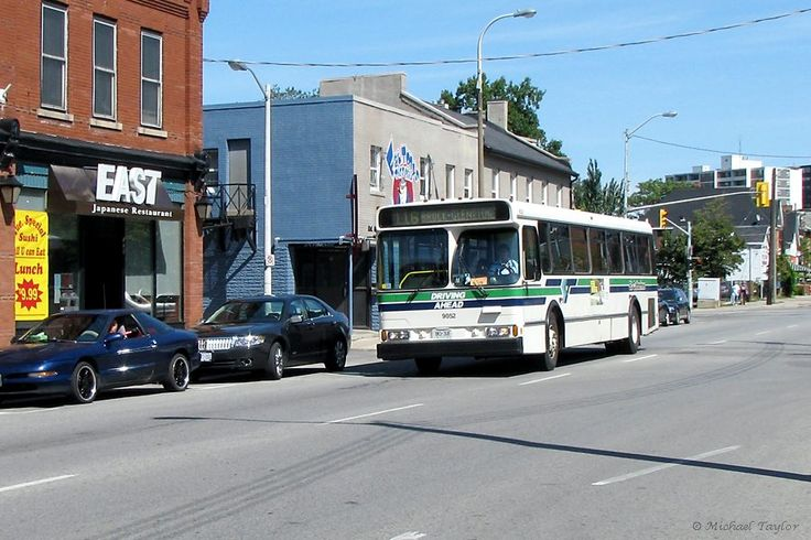 St. Catharines 9052 on King Street Orion bus.
