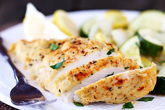 Hummus-Crusted Chicken- This was soooo good when I tried it (I used a roasted garlic hummus)