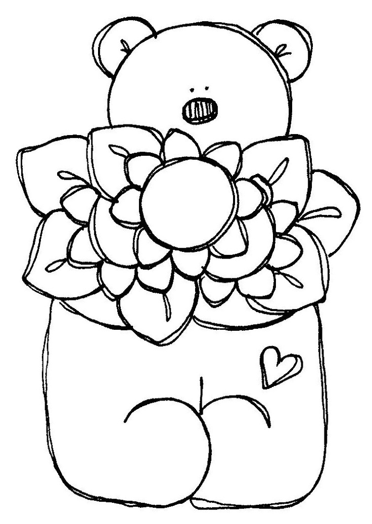17 Best images about Coloring pages Teddy Bears on