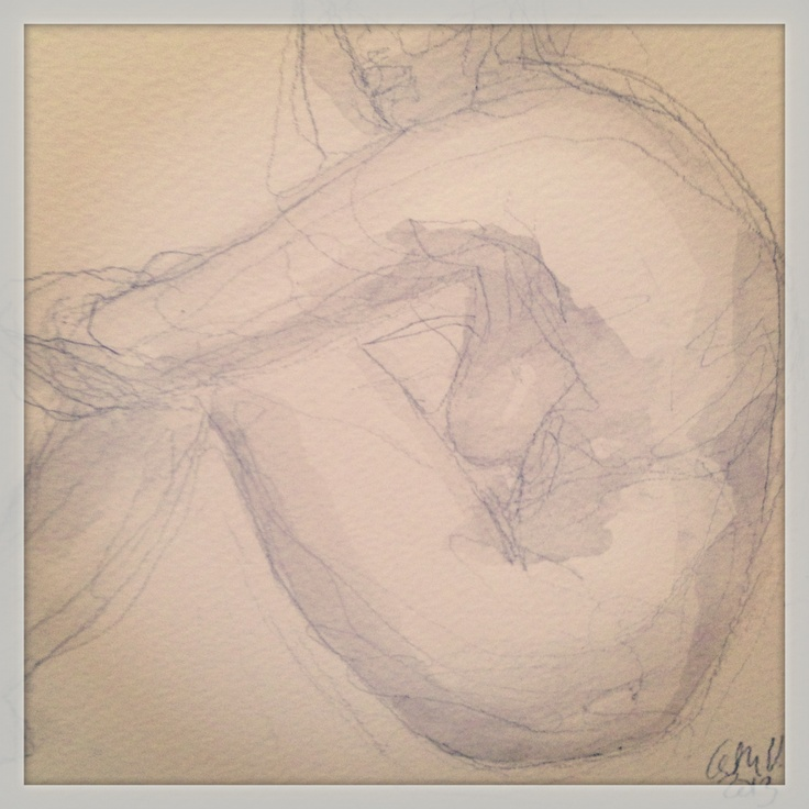 Pencil and ink ©Galleri Cat, Cathrine Ulrikson