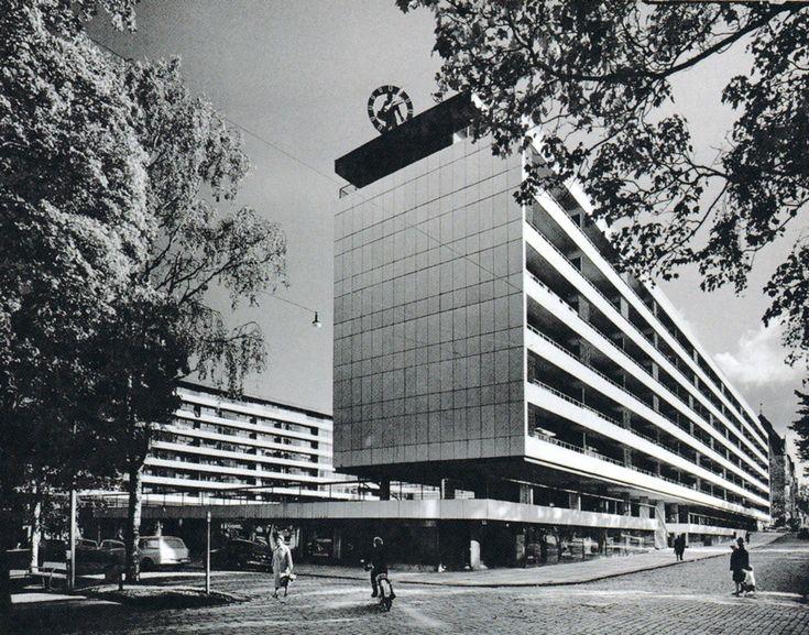 viljo revill - city centre quarter of vaasa, finland, 1958-62
