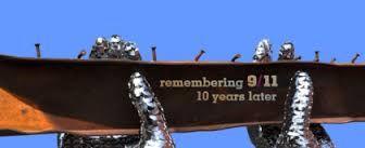 world trade center memorial sculpture rosemead California at city hall