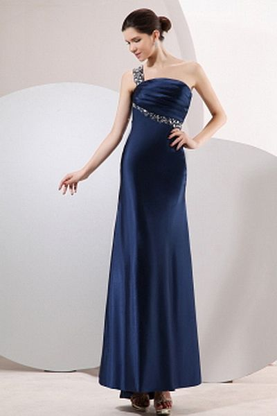 Satin Classic One-shoulder Prom Gowns wr2448 - http://www.weddingrobe.co.uk/satin-classic-one-shoulder-prom-gowns-wr2448.html - NECKLINE: One-shoulder. FABRIC: Satin. SLEEVE: Sleeveless. COLOR: Blue. SILHOUETTE: Sheath/Column. - 145.59