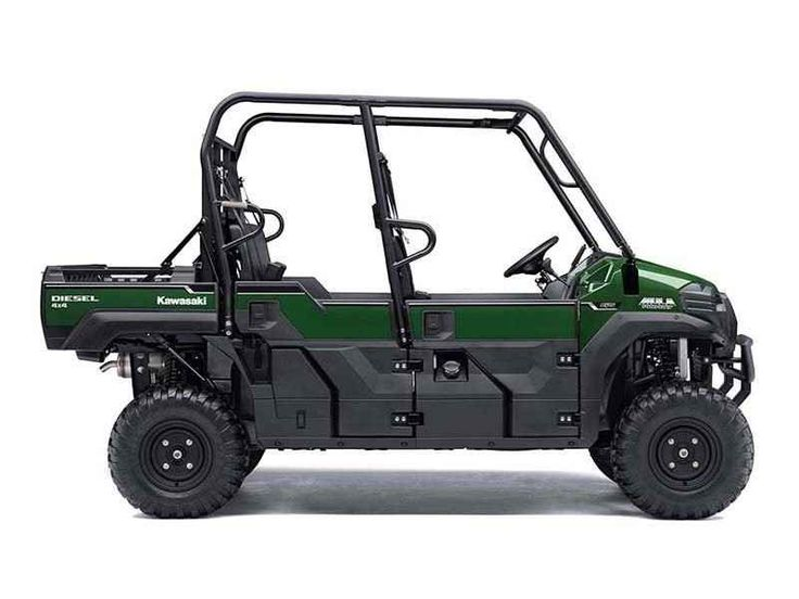 """New 2016 Kawasaki Mule PRO-DXTâ""""¢ EPS Timberline Green ATVs For Sale in West Virginia. The Mule PRO-DXT EPS is our powerful, most capable, full-size, six-passenger diesel Mule Side x Side yet. This high-capacity diesel Mule not only offers unmatched cargo and passenger versatility, but can also haul up to 1,000 pounds. And tow up to one ton. Featuring speed-sensitive EPS that automatically adjusts the amount of steering assist based on vehicle speed Powerful 993 cc, inline three-cylinder…"""