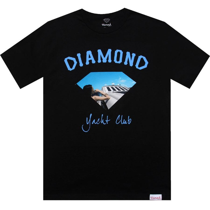 Diamond Supply Company Yacht Girl tee in black