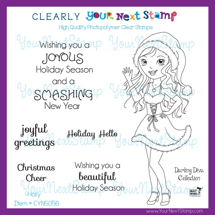 Holly - Darling Diva Collection (clear set) [CYNS056] - USD15.75 : Your Next Stamp