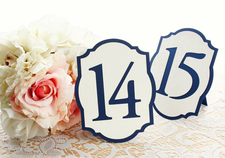 Elegant Navy Blue and Ivory/Cream Flat or Freestanding Wedding Table Numbers- Choose Your Colors by milkdustcreations on Etsy https://www.etsy.com/listing/110007010/elegant-navy-blue-and-ivorycream-flat-or