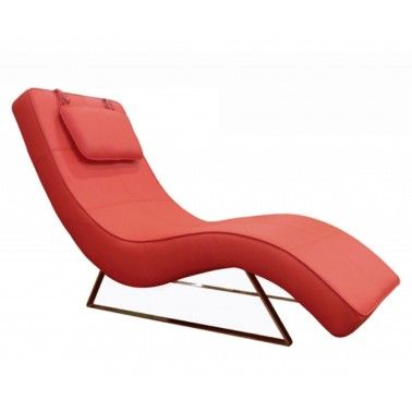 Fascinating Modern Red Chaise Lounge Design With Faux Leather Cover And  Metal Legs Also Small Cushions Included As Sweet Chair Design For Your Home  Interior ...