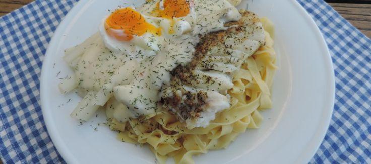 Asperges, pasta en kabeljauw met een heerlijke dillesaus | Lekker Tafelen