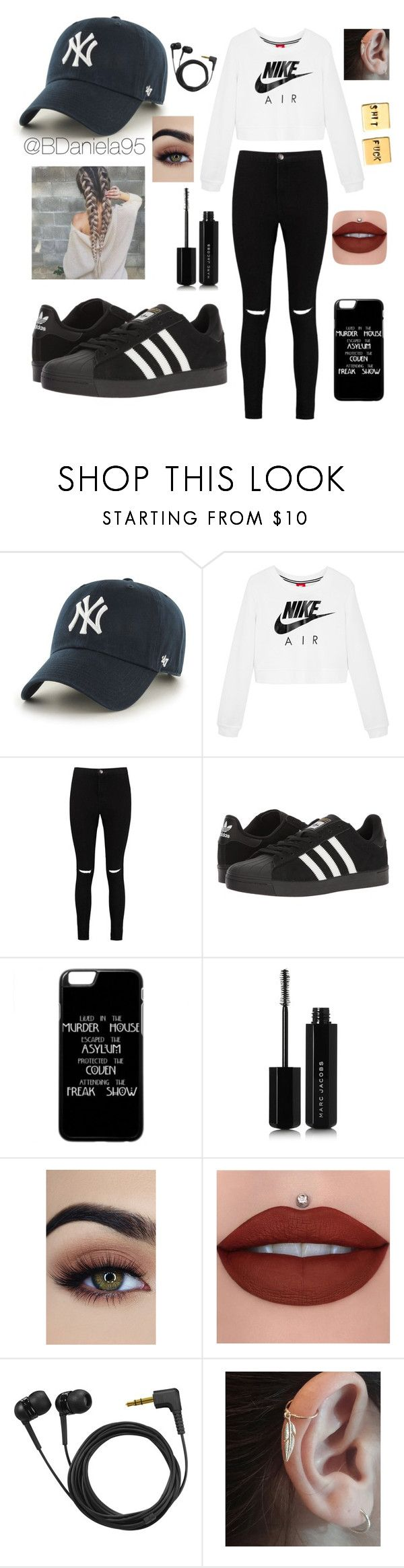 """""""Untitled #241"""" by daniela95140 on Polyvore featuring '47 Brand, NIKE, Boohoo, adidas, Marc Jacobs and Sennheiser"""