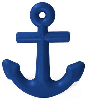 Anchors Aweigh Rubber Dog Toy, Nautical Navy beach-style-dog-toys