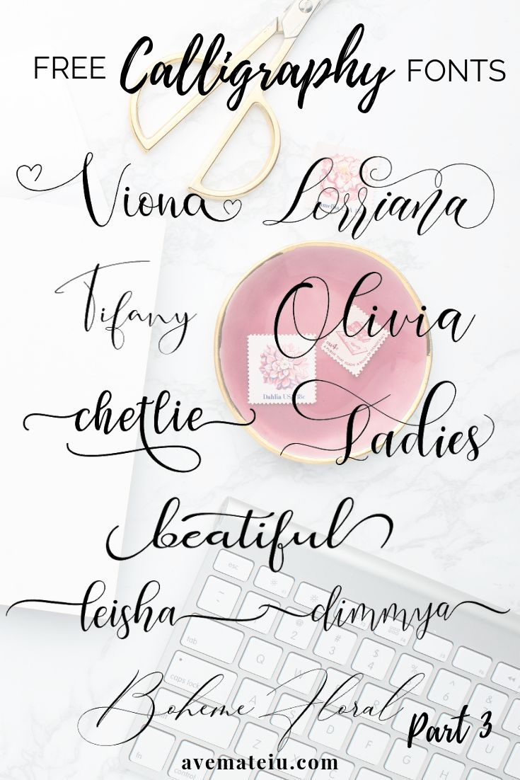 10 New FREE Beautiful Calligraphy Fonts Part 3 in 2020