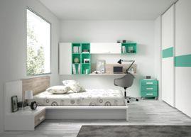 Mira que habitación de #matrimonio con #armario de puertas #correderas, mesita de noche, #estantería y #escritorio No lehttp://www.ros1.com/es/producto/kids-touch-84-senior
