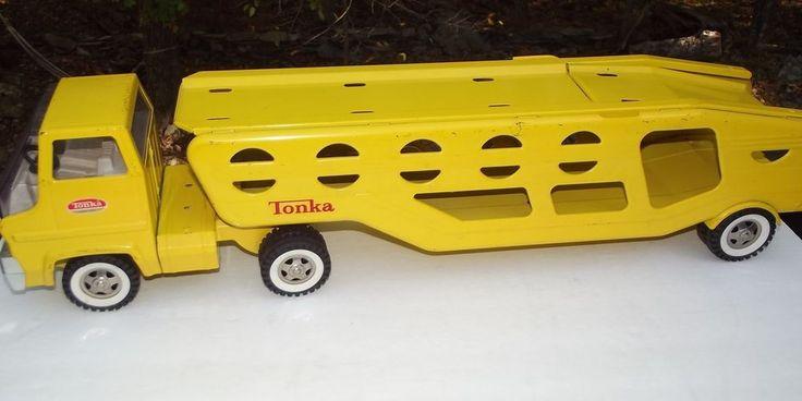 Toy Car Carrier : Vintage s tonka car carrier hauler pressed steel
