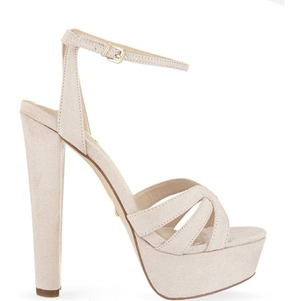 Gemma heeled sandals (1 795 SEK) ❤ liked on Polyvore featuring shoes, sandals, nude, nude platform shoes, heeled sandals, platform heel sandals, platform shoes and carvela shoes
