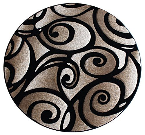 Modern Round Area Rug 7 Ft 8 In X