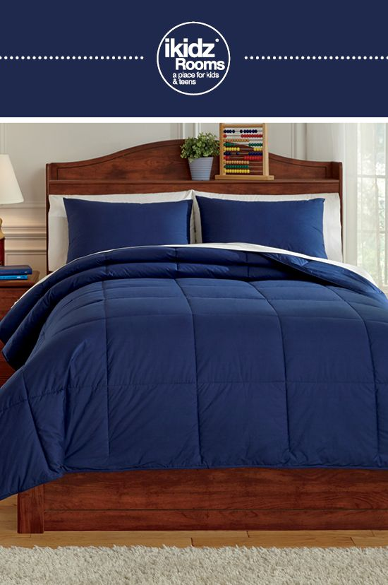 Ikidz Rooms Plainfield Navy Full Comforter Set Kids