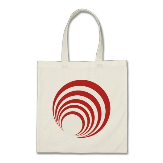 Red Swirl Tote