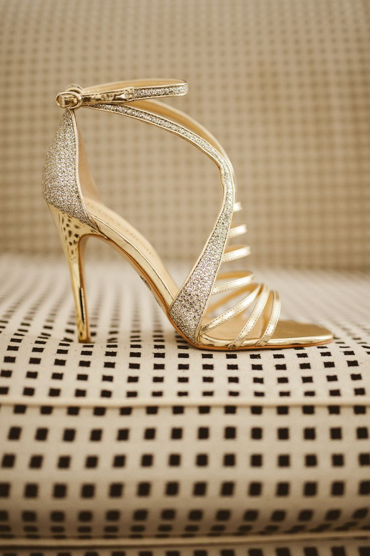 Avalon Palm Springs Wedding Gold ShoesDesigner
