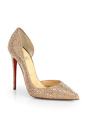 Christian Louboutin Iriza Strass Crystal Pumps @Saks Fifth Avenue.  #YesPlease