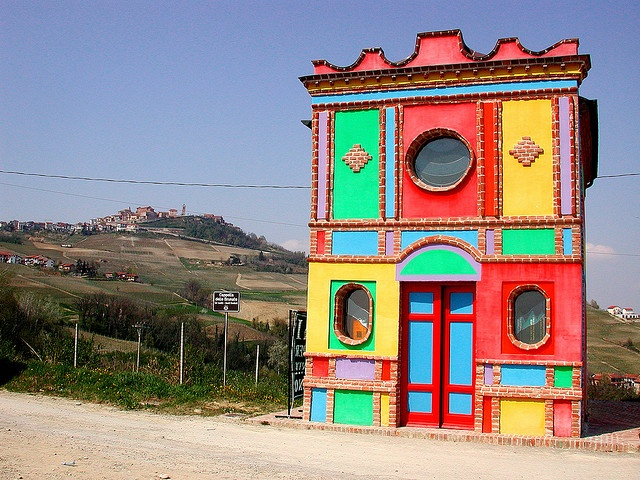 The Barolo Chapel decorated by Sol LeWitt and David Tramlett, near La Morra, Italy