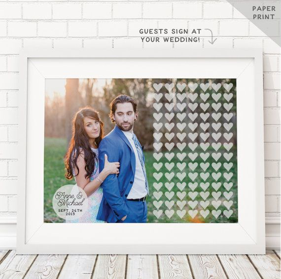 Photo Guest book alternative with HEARTS by MissDesignBerryInc