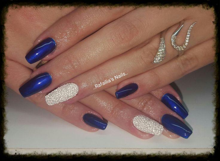 #Gel #Marilyn_Monroe_Shape #Blue_Metallic_Colour #Sugar_Effect