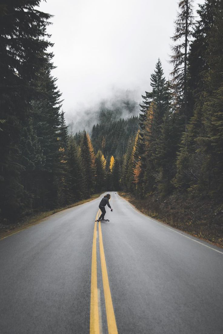 Untitled by: Zackk Core Skateboarder riding the solid yellow lines