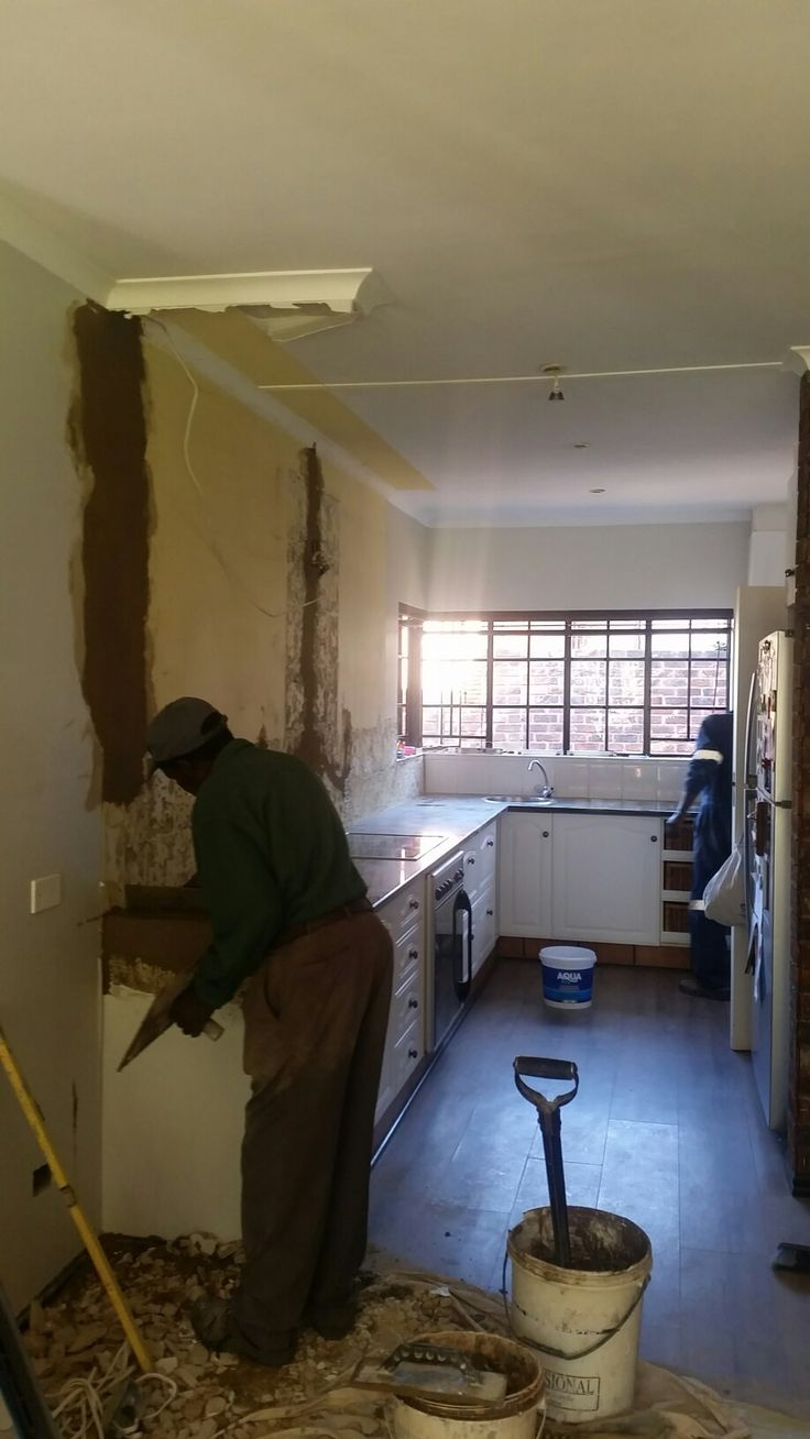 Client HEP. Kitchen during make over.