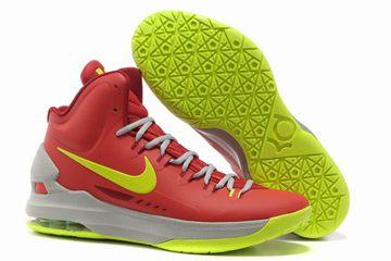 "Nike Womenˊs Zoom KD 5 Kevin Durant ""DMV"" Shoes : Bright Crimson & Volt/Wolf Grey"