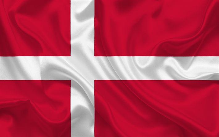 Download imagens Bandeira dinamarquesa, Dinamarca, Europa, a bandeira da Dinamarca
