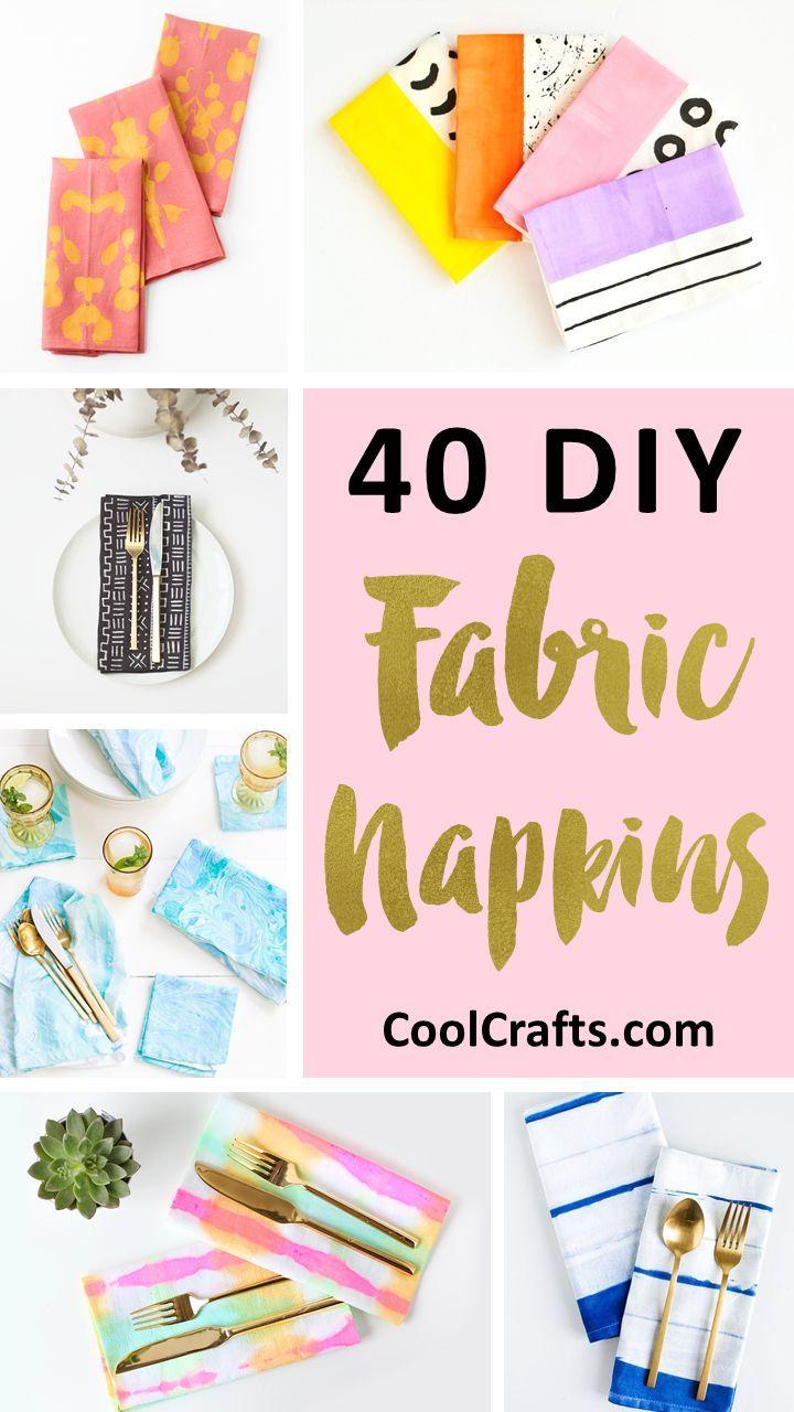 40 DIY-Projekte für stilvolle Stoffservietten, die jahrelang halten werden! – CoolCrafts.com   – **THE Round-Up Group Board**