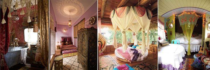 Интерьер спальни в стиле Бохо