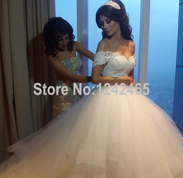 Find More Wedding Dresses Information About Ball Gown Puffy Sweetheart Off Shoulder Vestidos De Casamento Soft