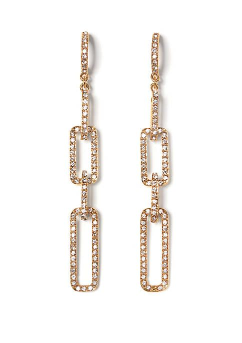 bcc054e61 Vince Camuto Pave Link Linear Earrings in 2019 | Fashion | Vince ...