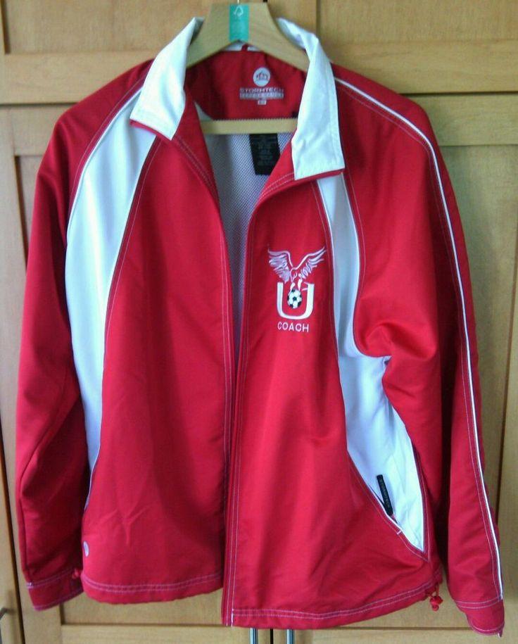 Stormtech Performance Unisex Red White Football/Soccer Coach Jacket Size M Full  | eBay