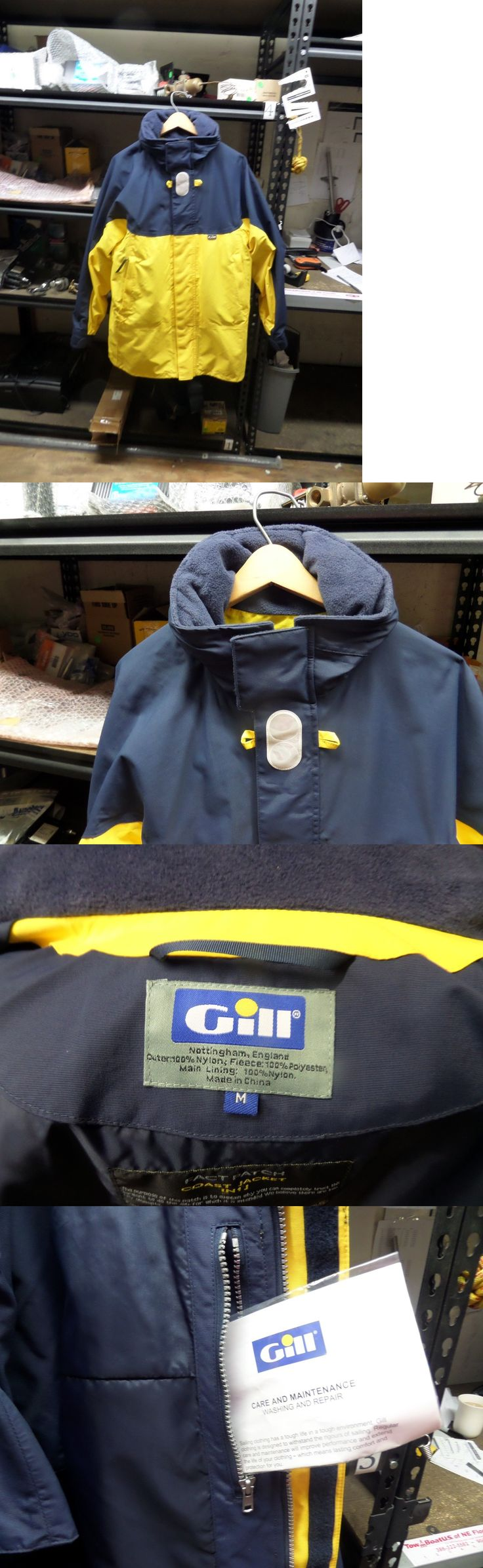 Jacket and Pants Sets 179981: Gill Women S Foul Weather Gear M Yellow And Navy Blue Jacket With Trousers -> BUY IT NOW ONLY: $175 on eBay!