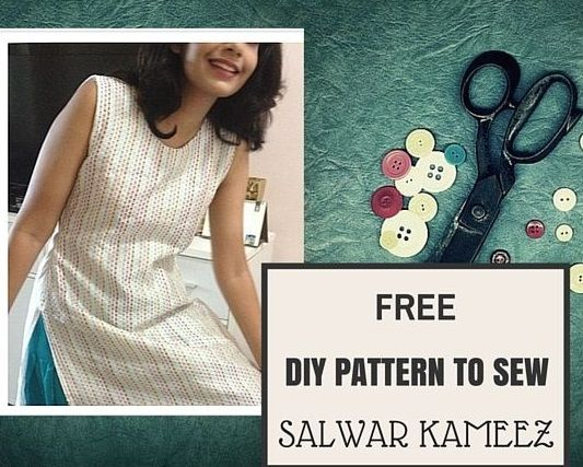 How to sew Salwar Kameez - Kurta top- {FREE PATTERN} - Sew Guide