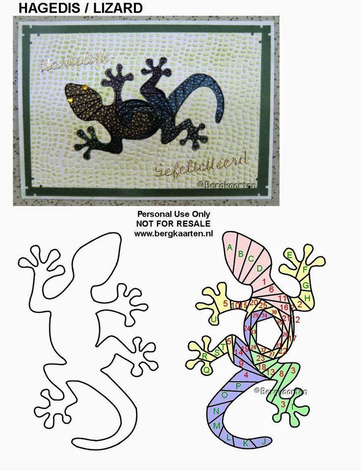Iris Folding: Lizard