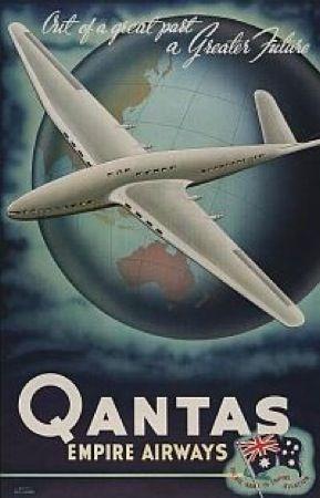 Vintage Qantas poster