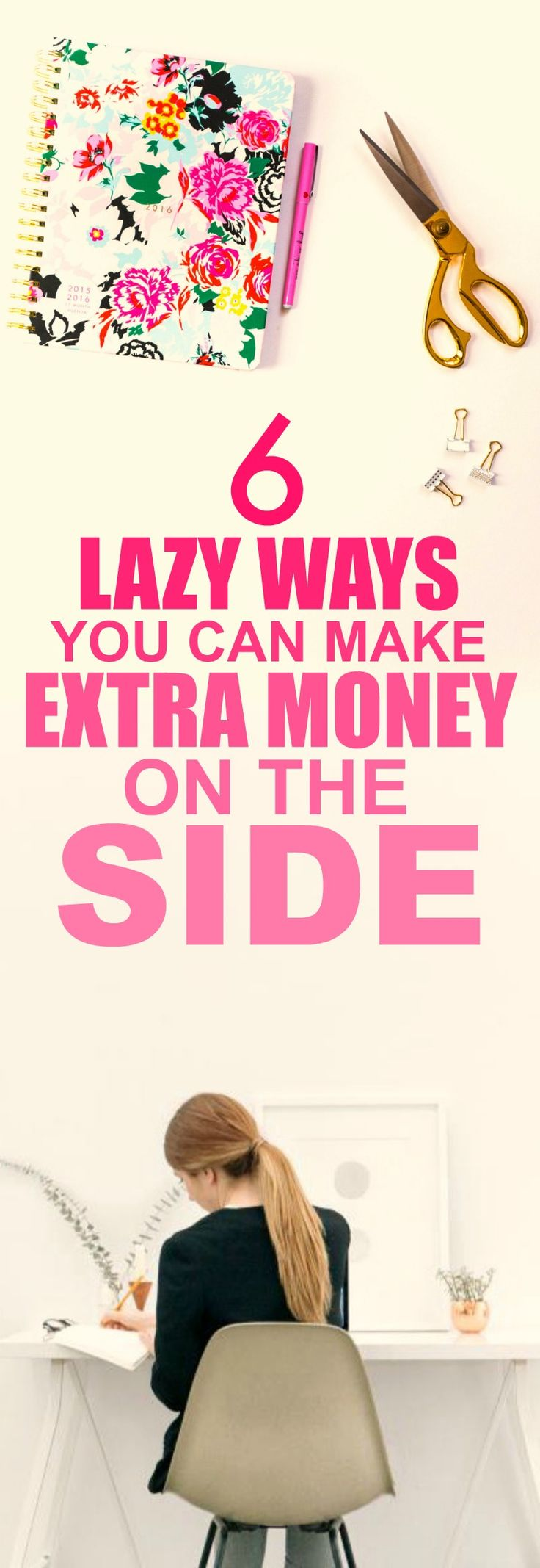 These 6 easy ways to make extra money on the side are THE BEST! I'm so glad I found this GREAT post! I've already tried one of them and I'm already making A TON of money each month! I'm SO pinning for later!