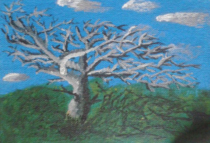 Conscience  12,5x17,5 cm Peinture acrylique