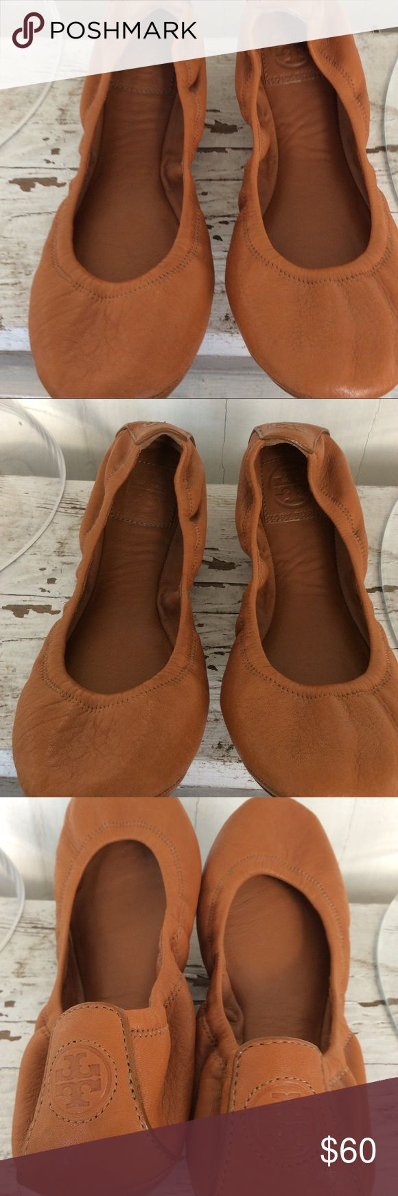 Tory Burch camel leather ballet flat 8.5 Tory Burch leather Camel ballet flat 8.5 Tory Burch Shoes Flats & Loafers