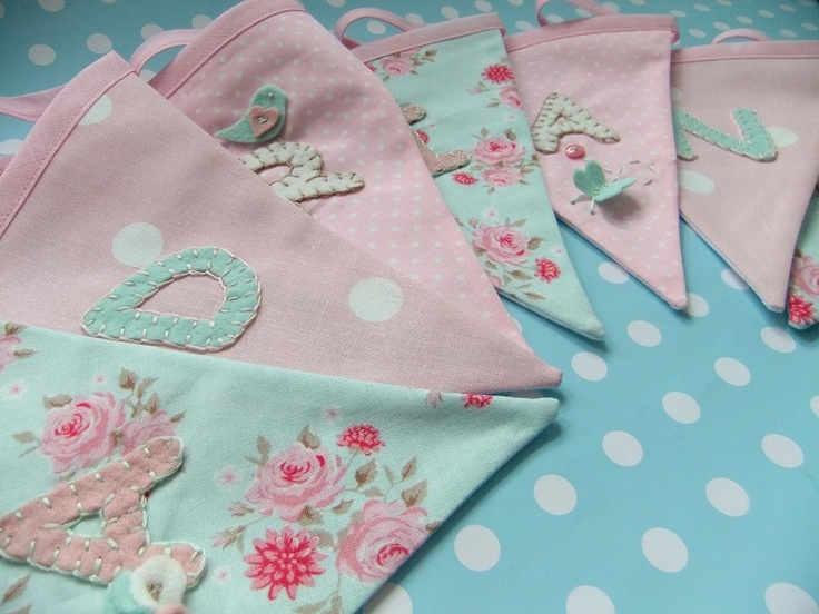 LITTLE KITTEN HOMEMADE bunting, banners & pretty things - Personalised Bunting