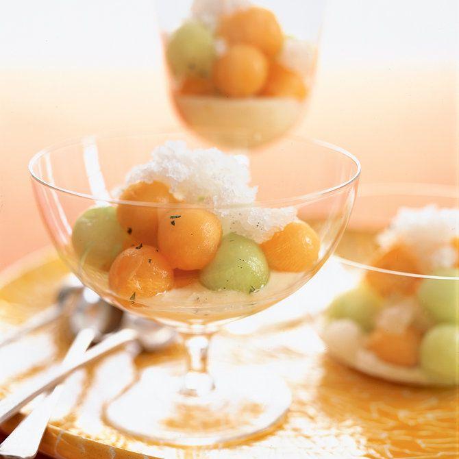 Minted Melon with Vanilla Granita and Citrus Yogurt | Pastry chef ...