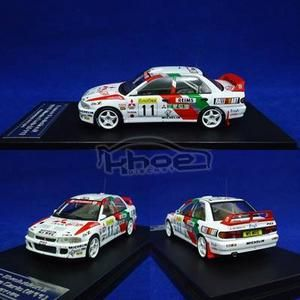 DIECAST / MINIATUR MITSUBISHI LANCER EVOLUTION RALLY MONTE CARLO  1:43 BY HPI RACING