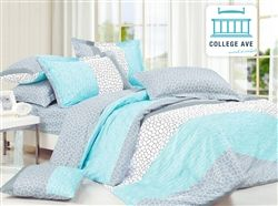 Dove Aqua Twin XL Comforter Set - College Ave Designer Series - Dorm Comforter For College   Want this