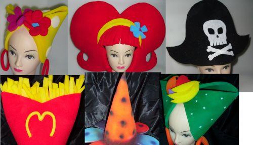 Sombreros locos de hule espuma - Imagui