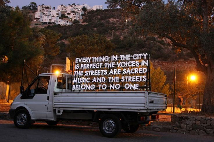 Everything in the city is perfect the voice in the streets are sacred music and the streets belong to no one. - Robert Montgomery